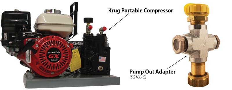 Compressor and Pump Out Adapter.